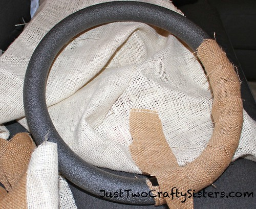 Making a Burlap Fall Wreath