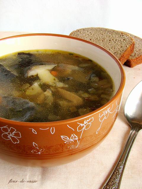 суп грибной 2
