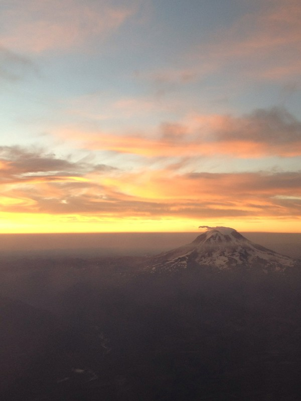 sunrise over Mount Rainier
