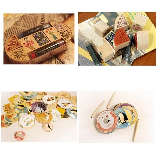 8.sellos - tarjetas vintage