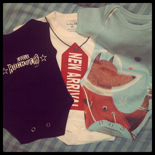 sweet surprise from @earthlingsmama :) thanks so much rone! these onesies and more cute gear are available at www.motheringearthlings.com