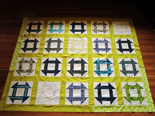 a sunny quilt top
