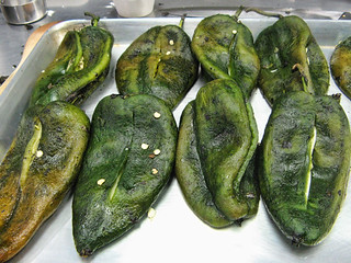 Roasted Peppers for Chile Rellenos from New School of Cooking