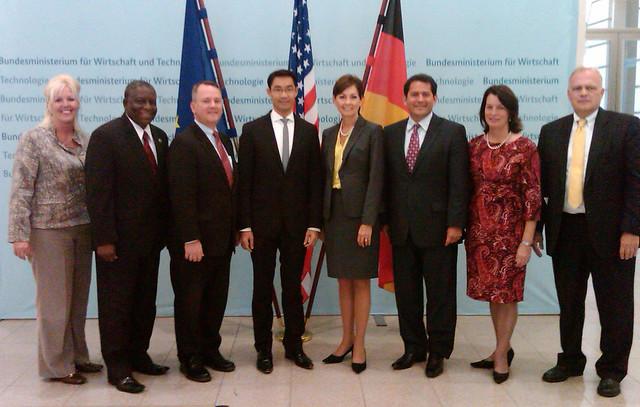 At the Bundesministerium fur Wirtschaft und Technologie in Berlin