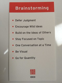 #medX IDEO - ideo's rules of brainstorming: