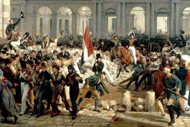 Louis-Philippe d'Orléans leaving the Palais-Royal to go to the city hall, 31 July 1830, two days after the July Revolution by Horace Vernet