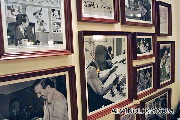 Various photos of Walt Disney
