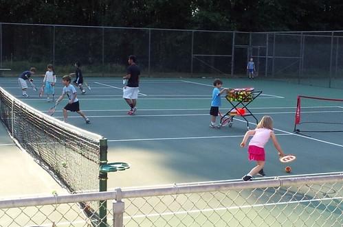 1st tennis lesson (1)
