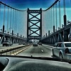 Driving Ben Franklin bridge - Iphoneography