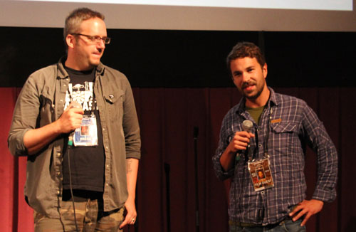 Todd Brown with Filmmaker Max Porcelijn of PLAN C