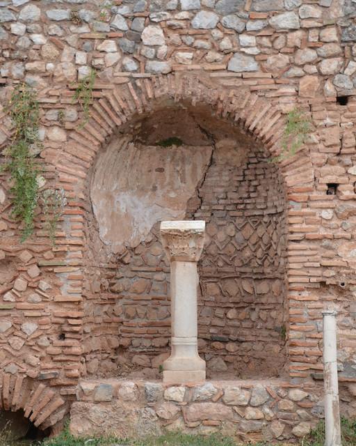 Brick And Stone Columns : Brick and stone niche with column delphi flickr