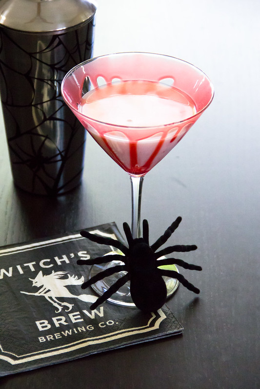 Creepy Spiced Caramel Apple Martini