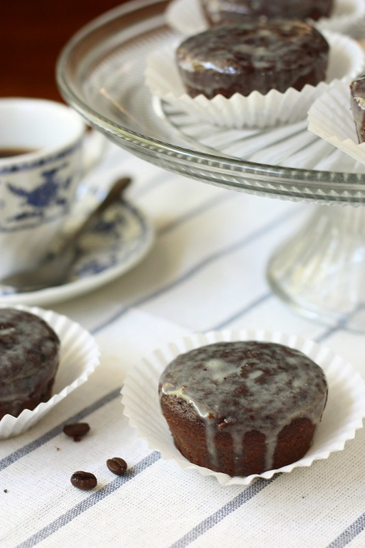 Chocolate Cakes with Espresso Glaze