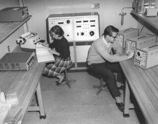 The radiation chemistry laboratory in Seaver North in 1965