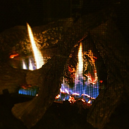 First fire of the season... Expecting a bit of snow tomorrow! Stay cozy!!