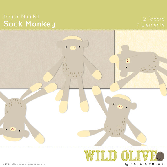 Sock Monkey Mini Kit