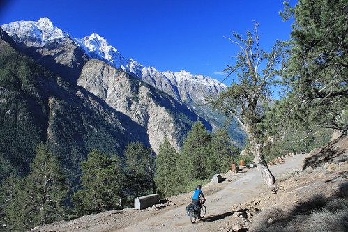 Cycling by Kinnaur Kailash
