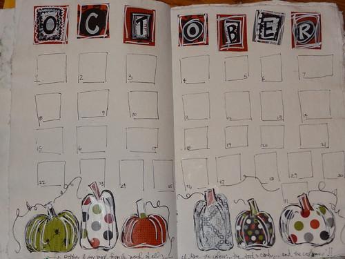 October 2012 Calendar Page