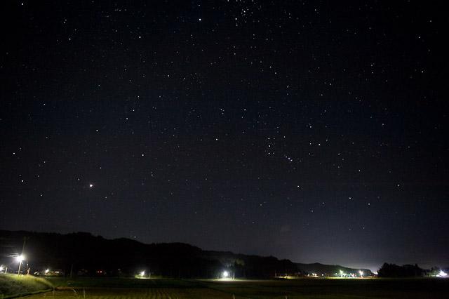 千葉の田舎の星空