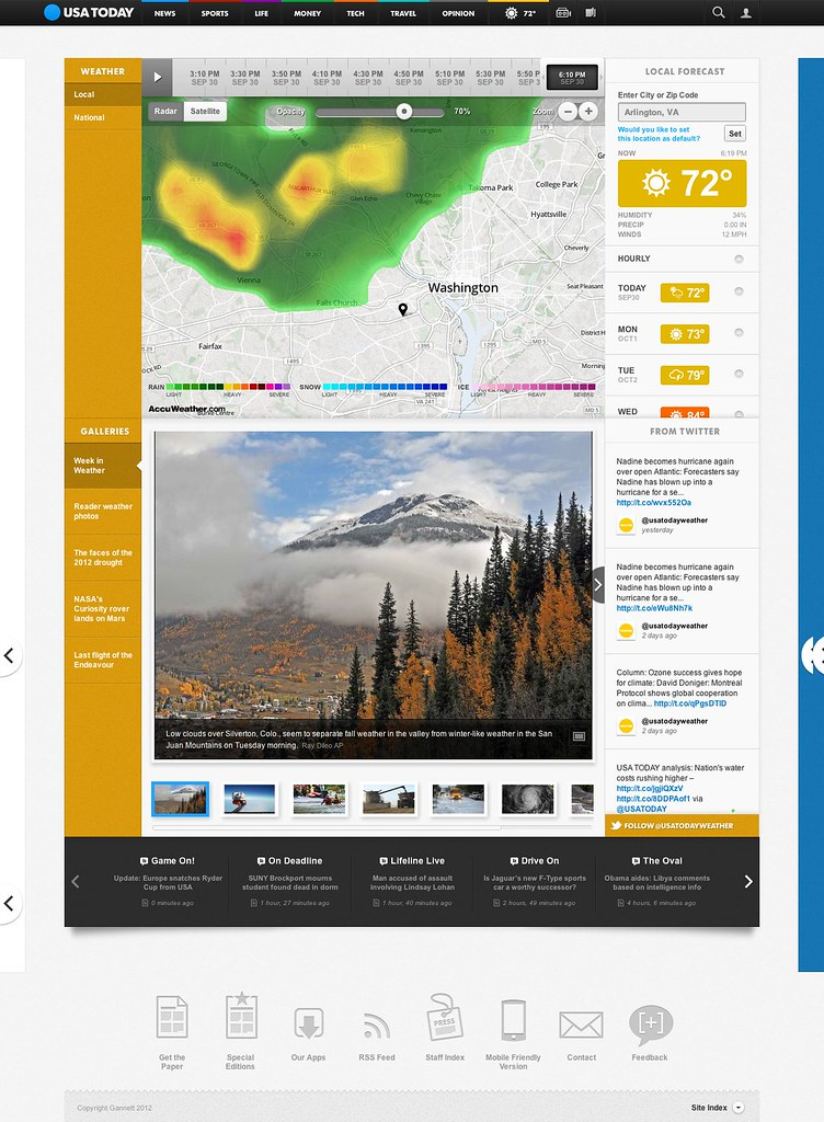 USAtoday.com/weather main radar maps