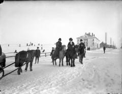 Vetrarstemming á Arnarhóli, um 1916