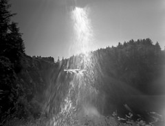 Sun Flares at Snoqualimie Falls