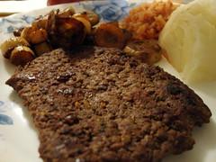 Cubed Steak Dinner Plate.