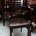 Dark beech restaurant chair