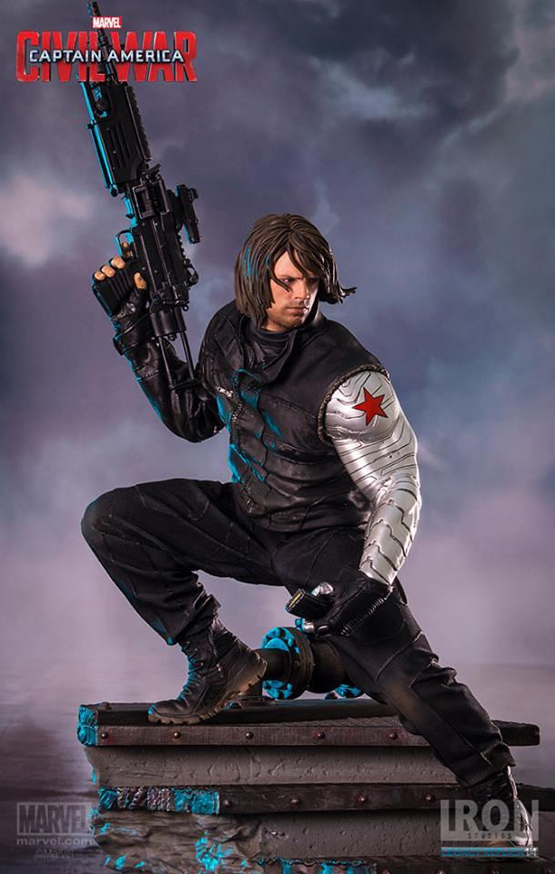 Iron Studios 美國隊長3:英雄內戰【酷寒戰士:巴奇.巴恩斯】Winter Soldier 1/4 比例全身場景雕像