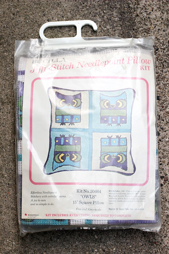 Vintage Needlepoint Kit by Jeni Baker