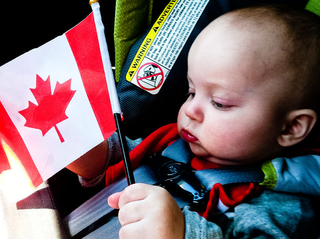 Canadian Flag Baby