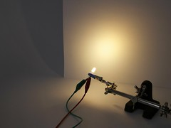 5 mm warm white diffused-lens LED