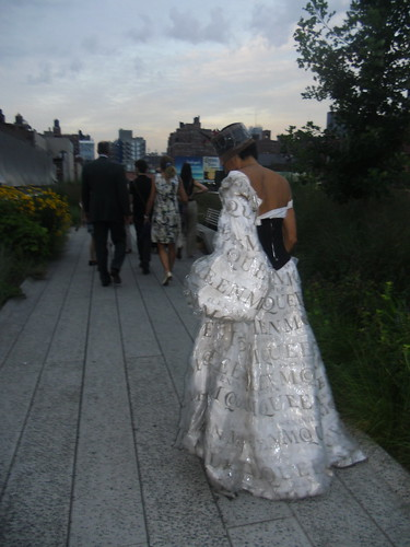 The most fabulous dress fashioned out of newspapers I have ever seen