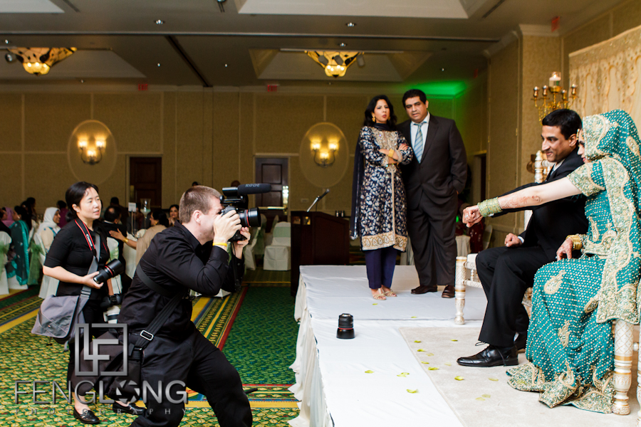 Behind the Scenes   Yusra & Rahil's Valima   Atlanta Pakistani Muslim Wedding Photographer