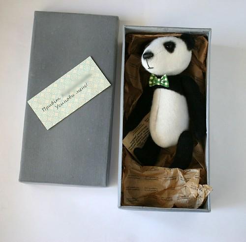panda in box