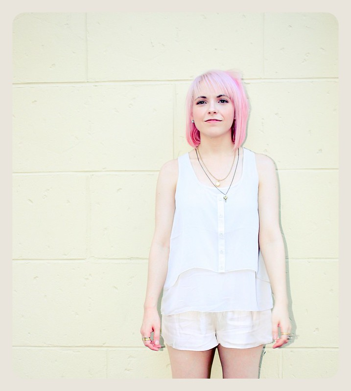 pastel hair pink smile summer