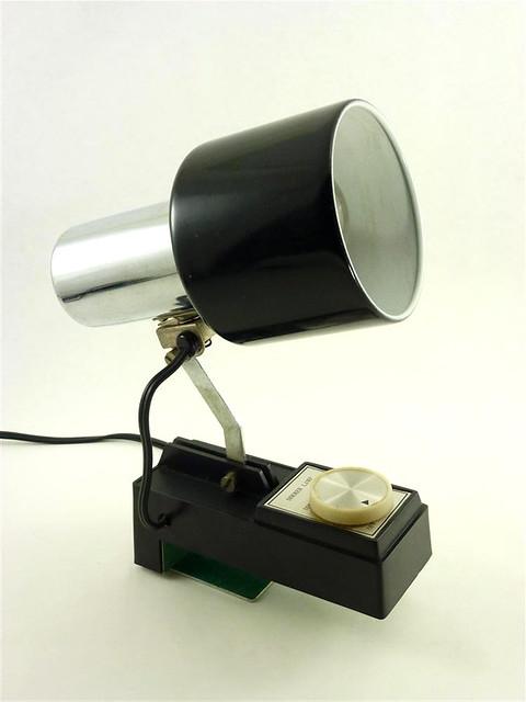 vintage black chrome metal lamp task headboard clamp. Black Bedroom Furniture Sets. Home Design Ideas
