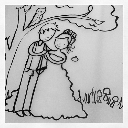 Wedding illustrations for a wedding commission. Making them in mori girl style. #mori #morigirl