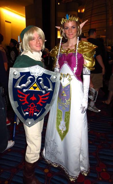 38.  Link and Zelda