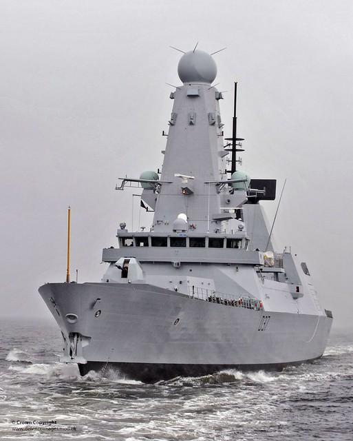 new type 45 destroyer hms duncan begins her sea trials