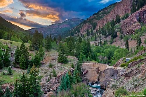 longexposure sunset abandoned mine dam lakecity henson hinsdalecounty hensoncreek uteulay