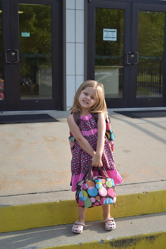 Maddie's 1st day of preschool