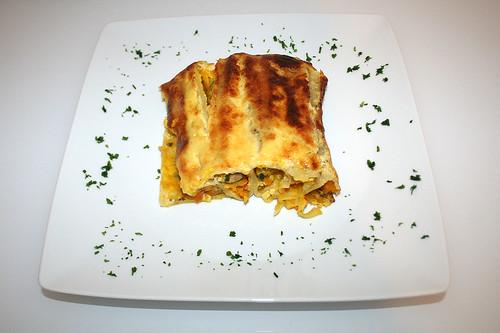50 - Kürbis-Cannelloni / Pumpkin cannelloni - Serviert