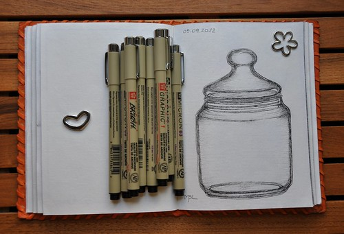 EDM Challenge #7: Draw a bottle, jar or tin from the kitchen