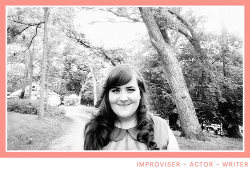Aidy Bryant in a black and white photo