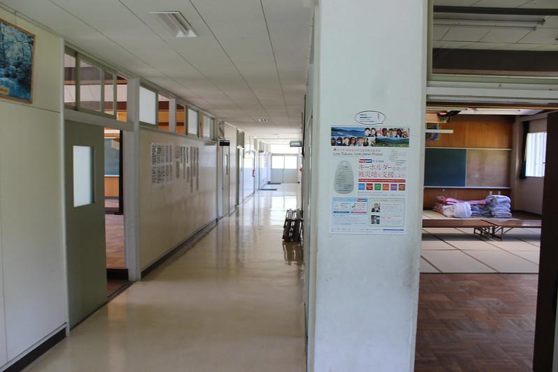 旧矢作小学校の構内