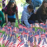 Placing flags near Columbia Independent School
