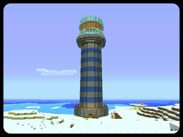 how to build a lighthouse in minecraft pe