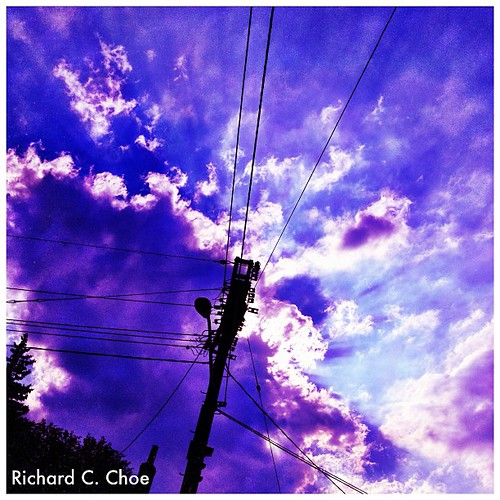 Evening Sky, September 13, 2012 by rchoephoto