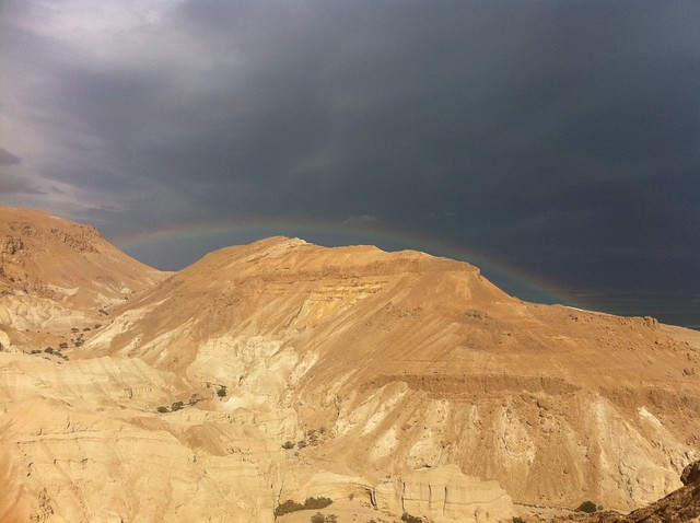 Desert Rainbow over the Dead Sea